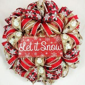Rustic Let It Snow Wreath⛄